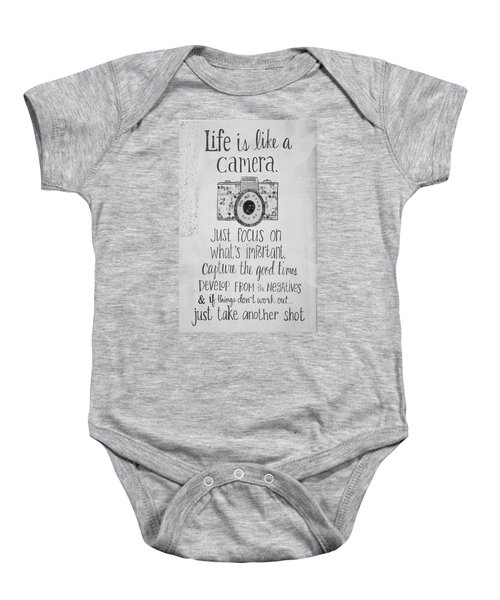 Capture Whats Important Baby Onesie