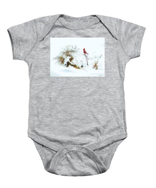 Cardinal Angel In The Snow Baby Onesie