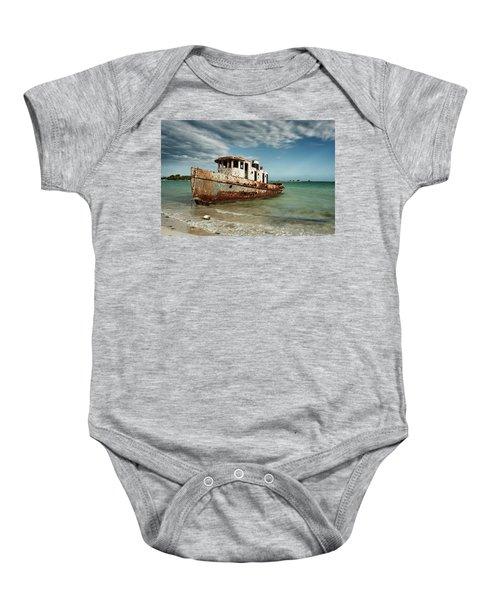 Caribbean Shipwreck 21002 Baby Onesie