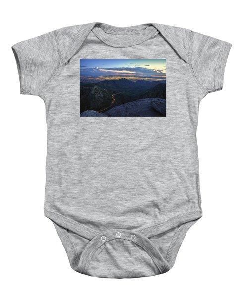 Catalina Highway And Tucson Baby Onesie