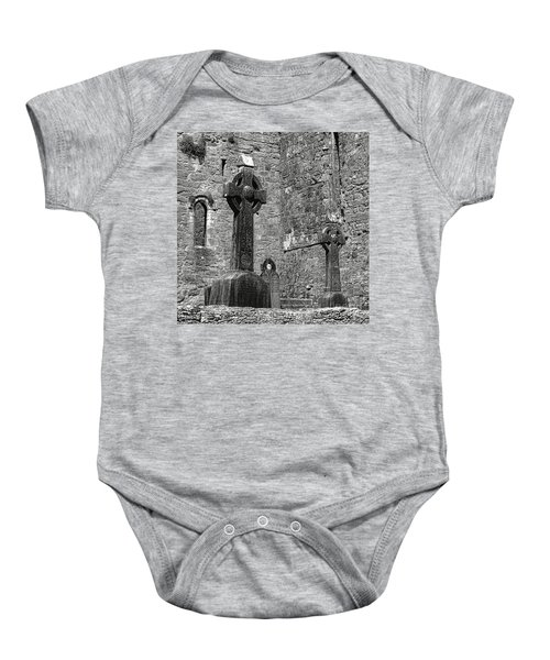 Celtic Cross At Cong Abbey Baby Onesie