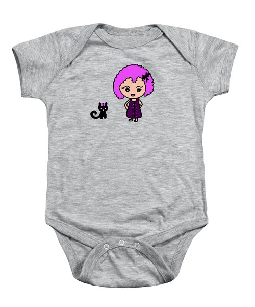Chibu Girl And Cat Whimsy Baby Onesie