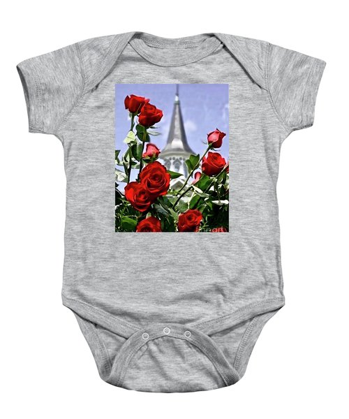 Churchill Downs Spire And Roses Baby Onesie
