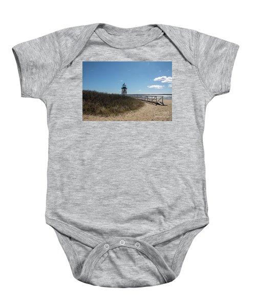 Coastal Brant Light House Baby Onesie