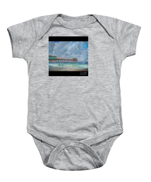 Cocoa Beach Pier Baby Onesie