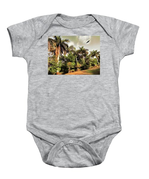Coconut Trees Baby Onesie