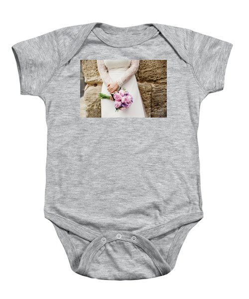 Colorful Bridal Bouquets With Flowers Baby Onesie