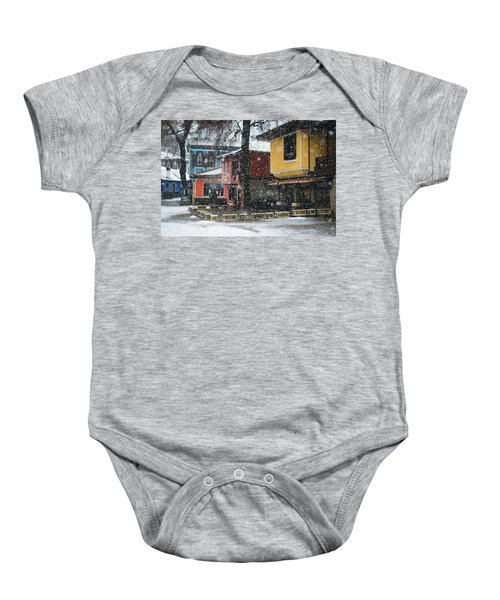 Colorful Koprivshtica Houses In Winter Baby Onesie