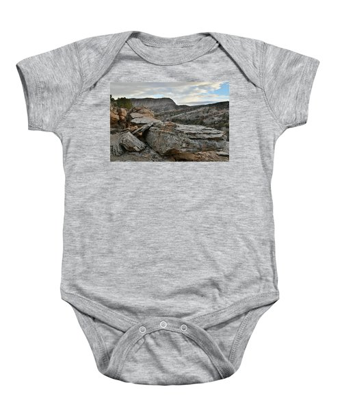 Colorful Overhang In Colorado National Monument Baby Onesie