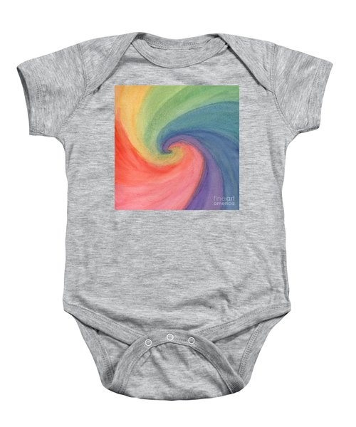 Colorful Wave Baby Onesie