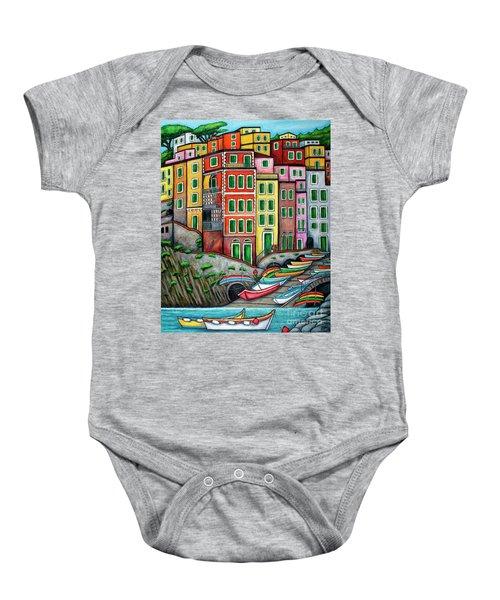 Colours Of Riomaggiore Cinque Terre Baby Onesie