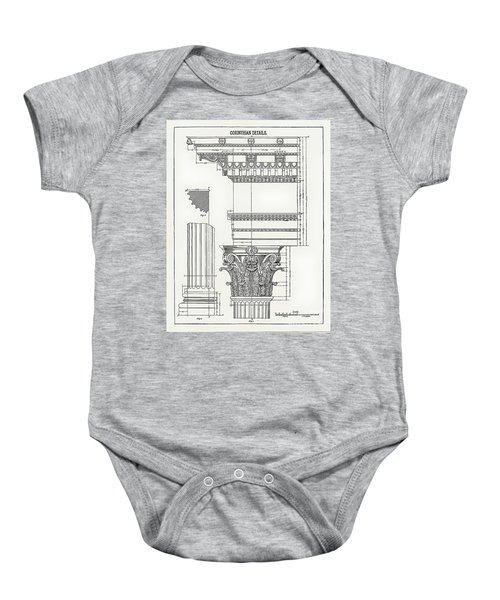 Corinthian Architecture Baby Onesie