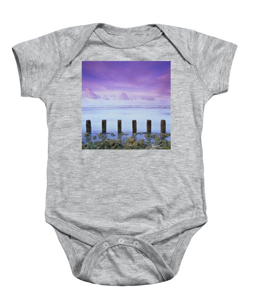 Cotton Candy Skies Over The Sea Baby Onesie
