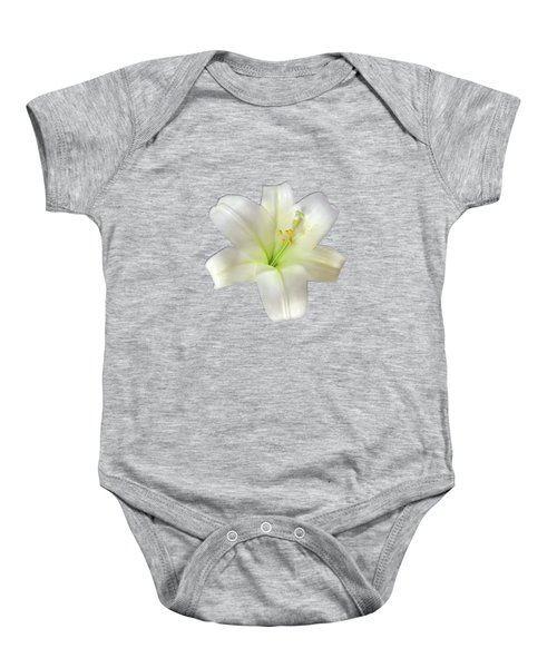 Cotton Seed Lilies Baby Onesie