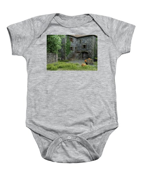 Country Farmhouse Baby Onesie
