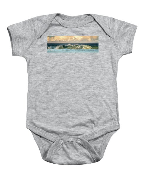 Crashing Waves And Cloudy Sky Baby Onesie
