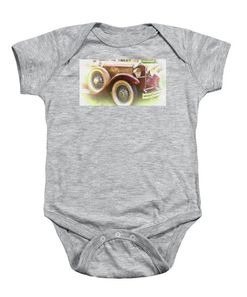 Cruise Into Tomorrow With Yesterday's Wheels Baby Onesie