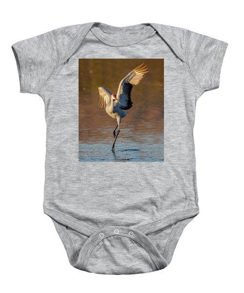 Dance Of The Sandhill Crane Baby Onesie