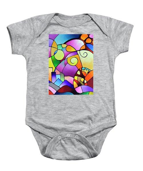 Daydream Canvas Two Baby Onesie