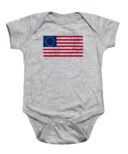 Distressed Betsy Ross Flag Baby Onesie