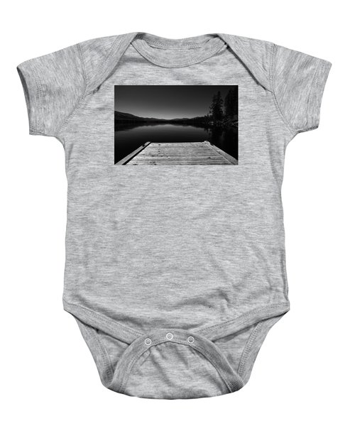 Dock At Dusk Baby Onesie