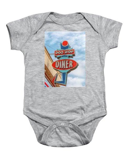 Doo Wop Diner Wildwood Baby Onesie