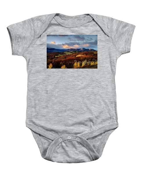 Dramatic Sunrise In The San Juan Mountains Of Colorado Baby Onesie