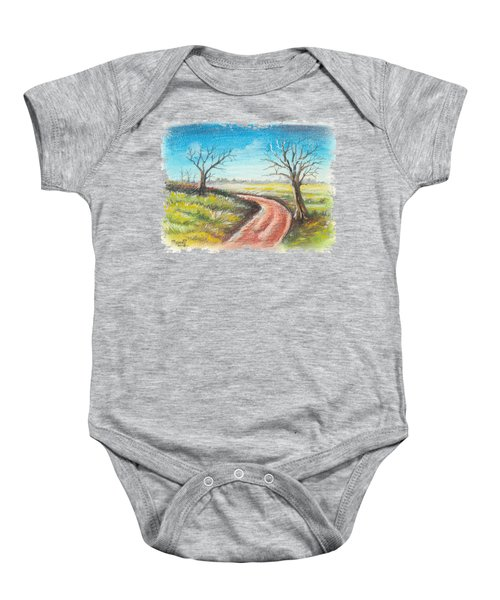 Dry Trees And A Road Baby Onesie