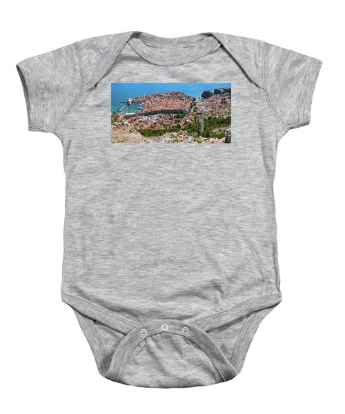 Dubrovnik Panorama From The Hill Baby Onesie