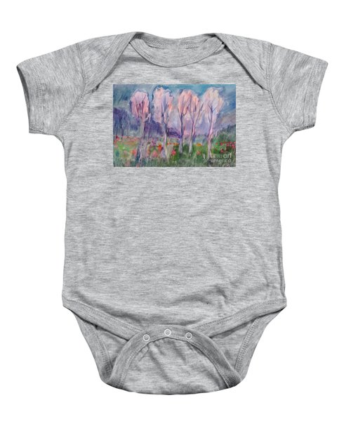 Early Morning In The Forest Baby Onesie