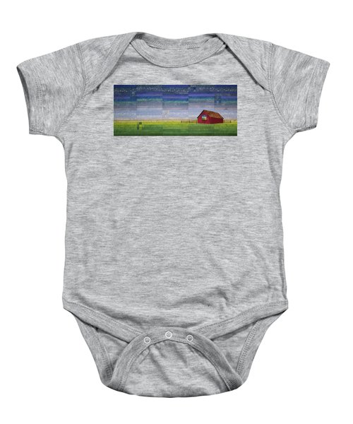 Early Morning Nine Patch Baby Onesie