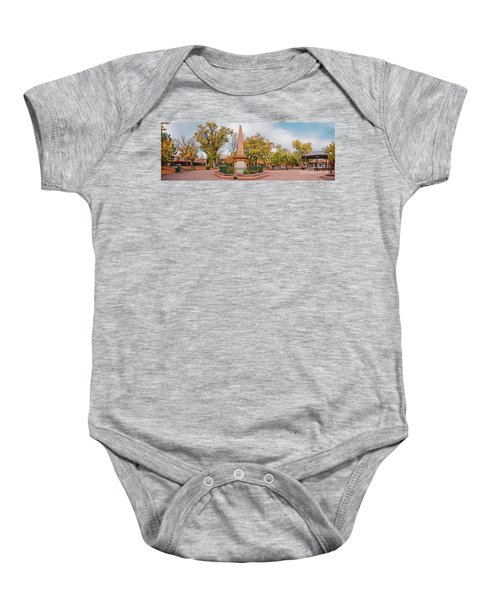 Early Morning Panorama Of Santa Fe Plaza - New Mexico Land Of Enchantment Baby Onesie