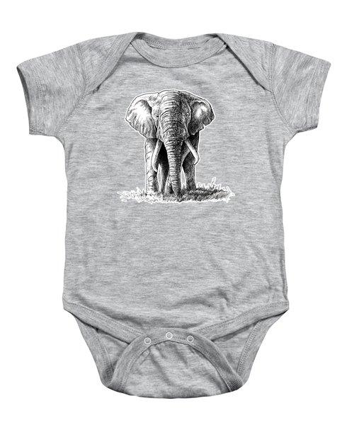 Elephant In The Room Baby Onesie
