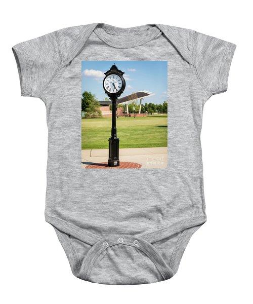 Evans Towne Center Park Clock - Columbia County Ga Baby Onesie