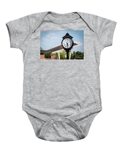 Evans Towne Center Park Clock - Evans Ga Baby Onesie