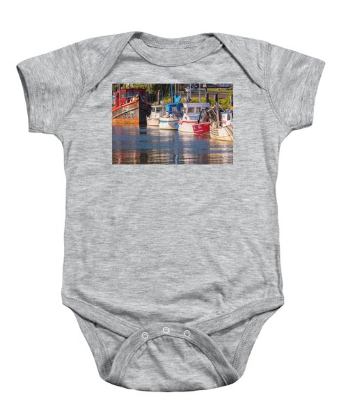 Evening At The Harbor Baby Onesie