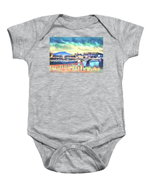Evening Glow After The Storm Baby Onesie