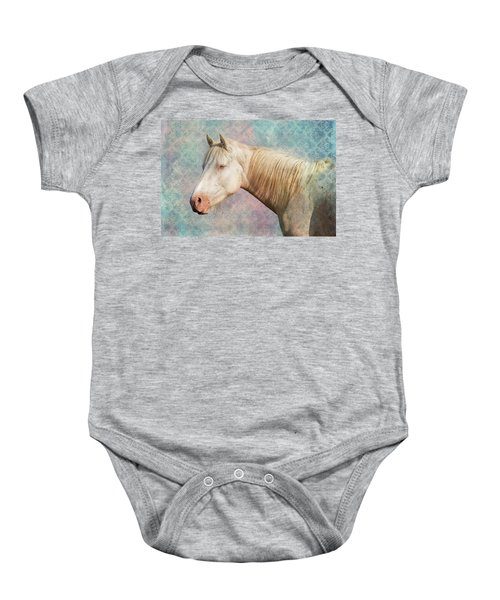 Baby Onesie featuring the photograph Eyes Like The Sky by Mary Hone