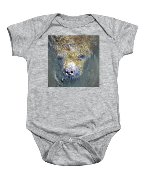 Face Of The Manatee Baby Onesie