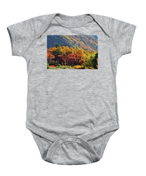 Fall Colors Along Avalanche Creek Road Baby Onesie