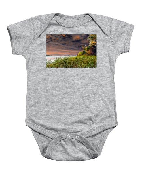 Fall On Lake Superior Baby Onesie