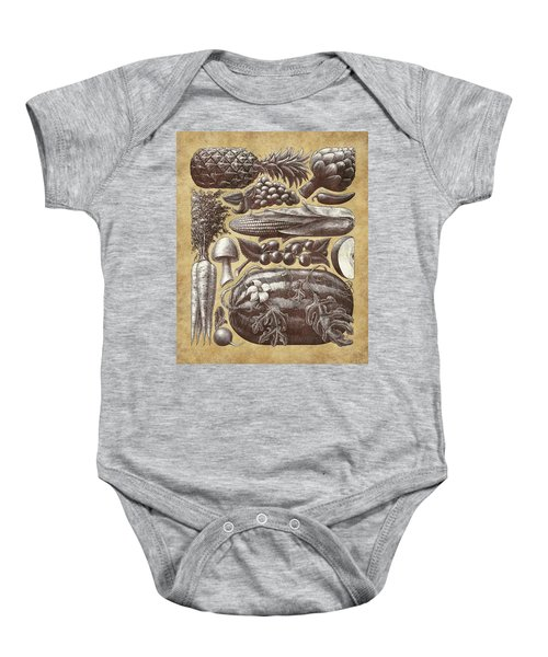 Farmer's Market - Sepia Baby Onesie