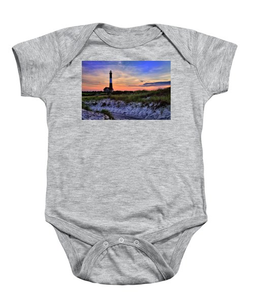 Fire Island Lighthouse Baby Onesie