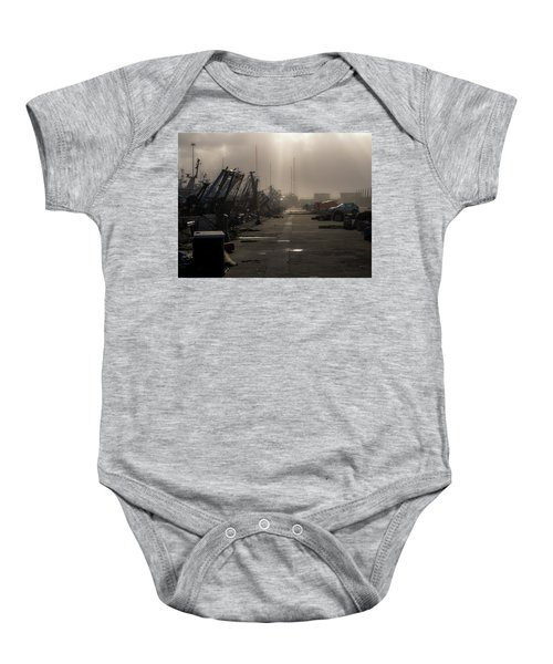 Fishing Boats Moored In The Harbor Baby Onesie