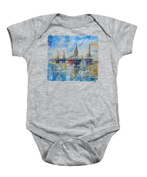 Five Boats Baby Onesie