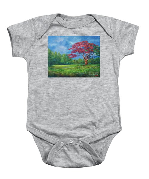 Flame Tree Baby Onesie