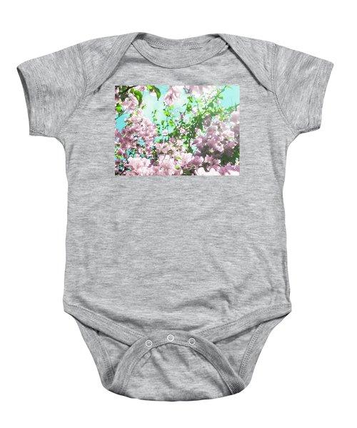 Floral Dreams V Baby Onesie