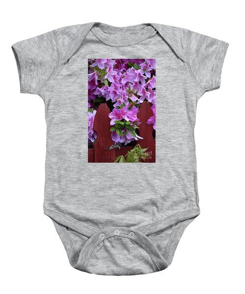 Floral Fencing  Baby Onesie
