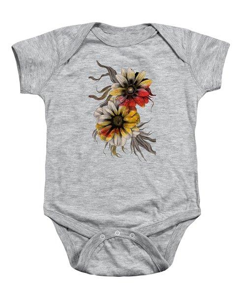 Floral Series - Gazania Rigens Baby Onesie