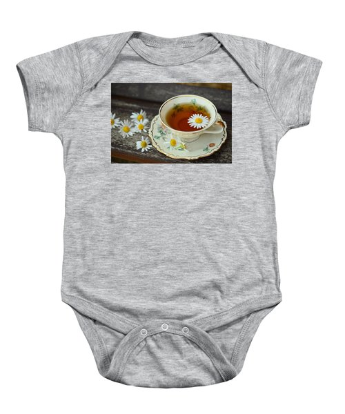 Flower Tea Baby Onesie